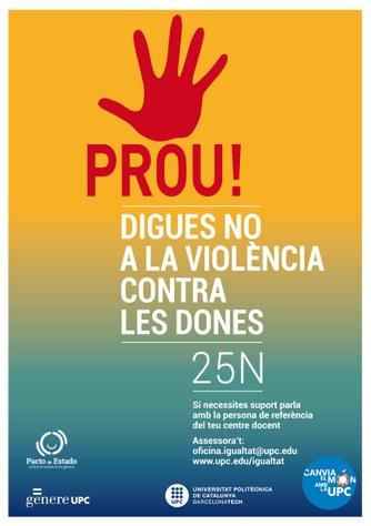 25 N : Dia Internacional de l'eliminació de la violència contra les dones