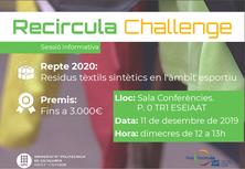Arriba el Recircula Challenge 2020! Informa-t'en -11 de desembre