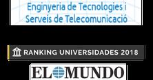 """El Grau en Enginyeria de Tecnologies i Serveis de Telecomunicació, es posiciona en el número 1 en el Ranking  de """"El Mundo"""" de Universitats Espanyoles per Grau del 2018"""