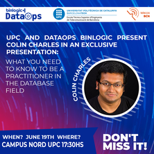 ETSETB and DataOps Binlogic present C. Charles in an exclusive presentation: What do you need to know to be a practitioner in the database field? - June 19th