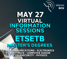 ETSETB Master's degree informative session  - May 27