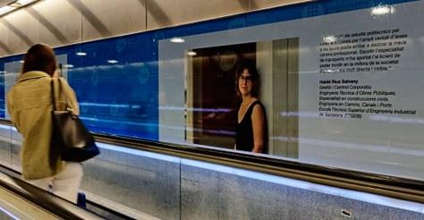 Exposició 'DonesTech per a noves destinacions' al metro Diagonal