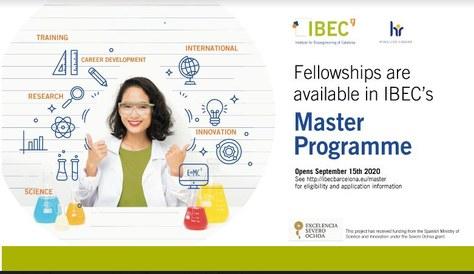 IBEC Master Students Programme fellowships 2020