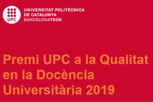 Acte de reconeixement a la professora Isabel Mercader, guardonada amb el Premi UPC a la Qualitat en la Docència Universitària 2019  - 19 de desembre