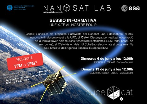 Presentació del Nano-Satellite and Payload Laboratory (NanoSat Lab) - 13 de juny
