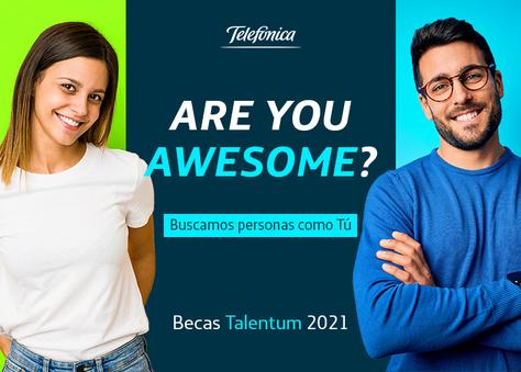 Presentación de  las becas Talentum 2021 de Telefònica - 16 de marzo