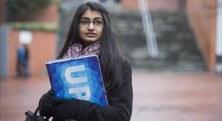 Sundus Ishaque (Pakistan 1994), estudiant de Telecomunicació, entrevistada pel Periódico