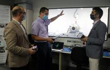 Visita del conseller de Polítiques Digitals i Administració Pública al NanoSat Lab