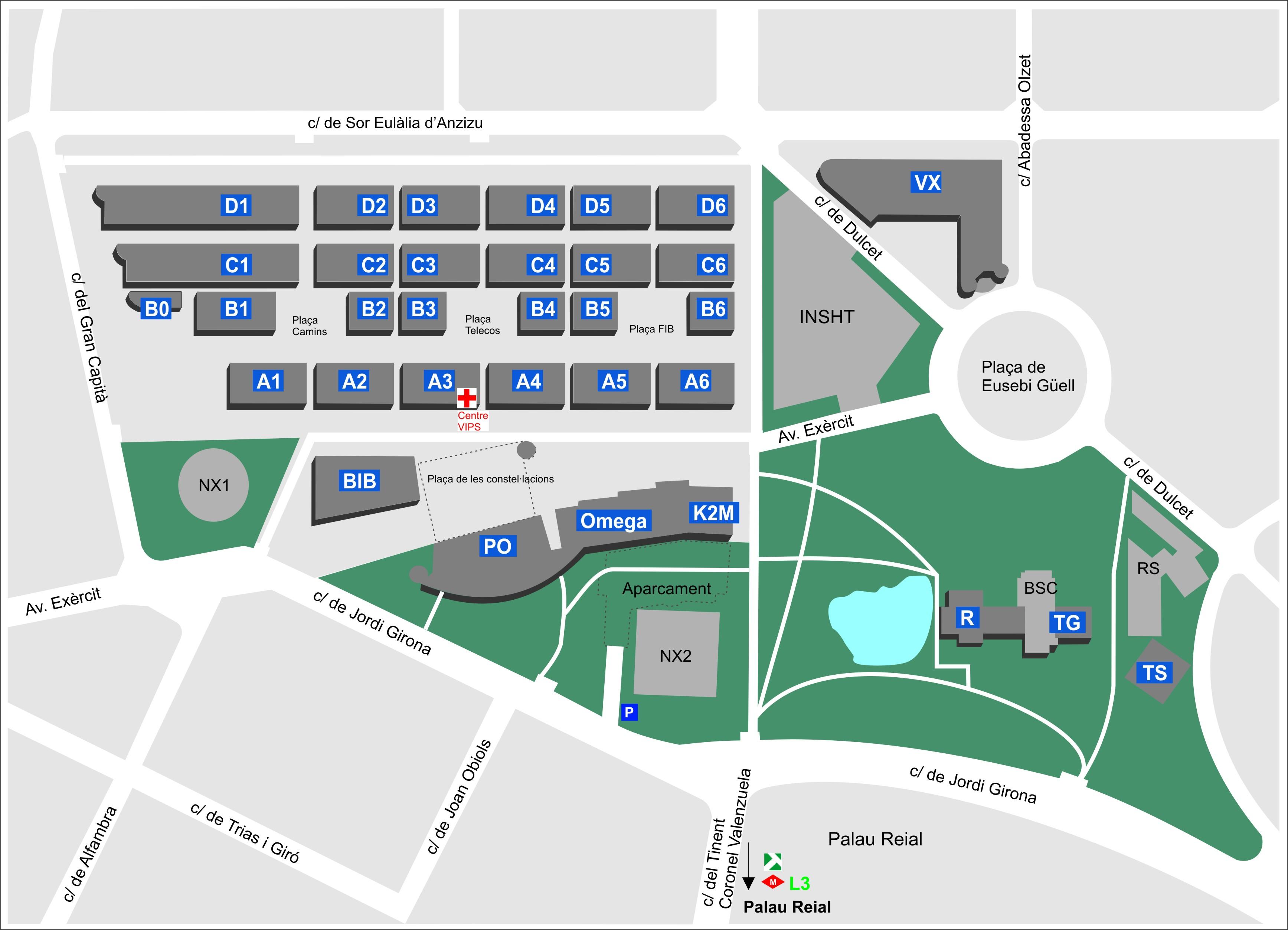 Plànol Campus Nord