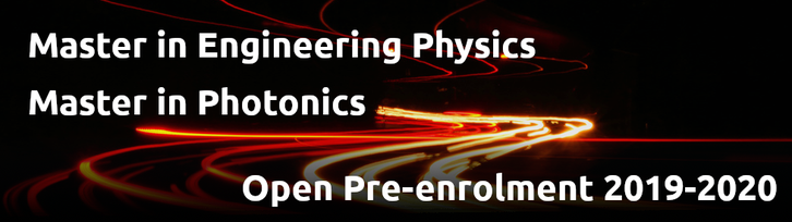 photonics and physics master pre-enrollment